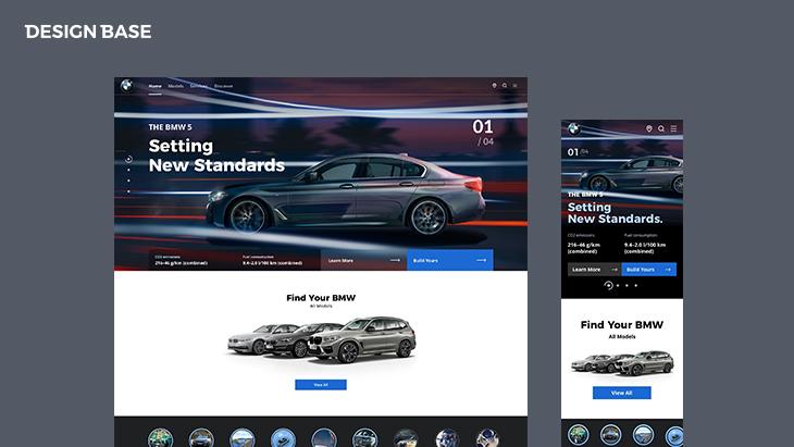 웹디자인 예제 - 메인 페이지 PC Mobile