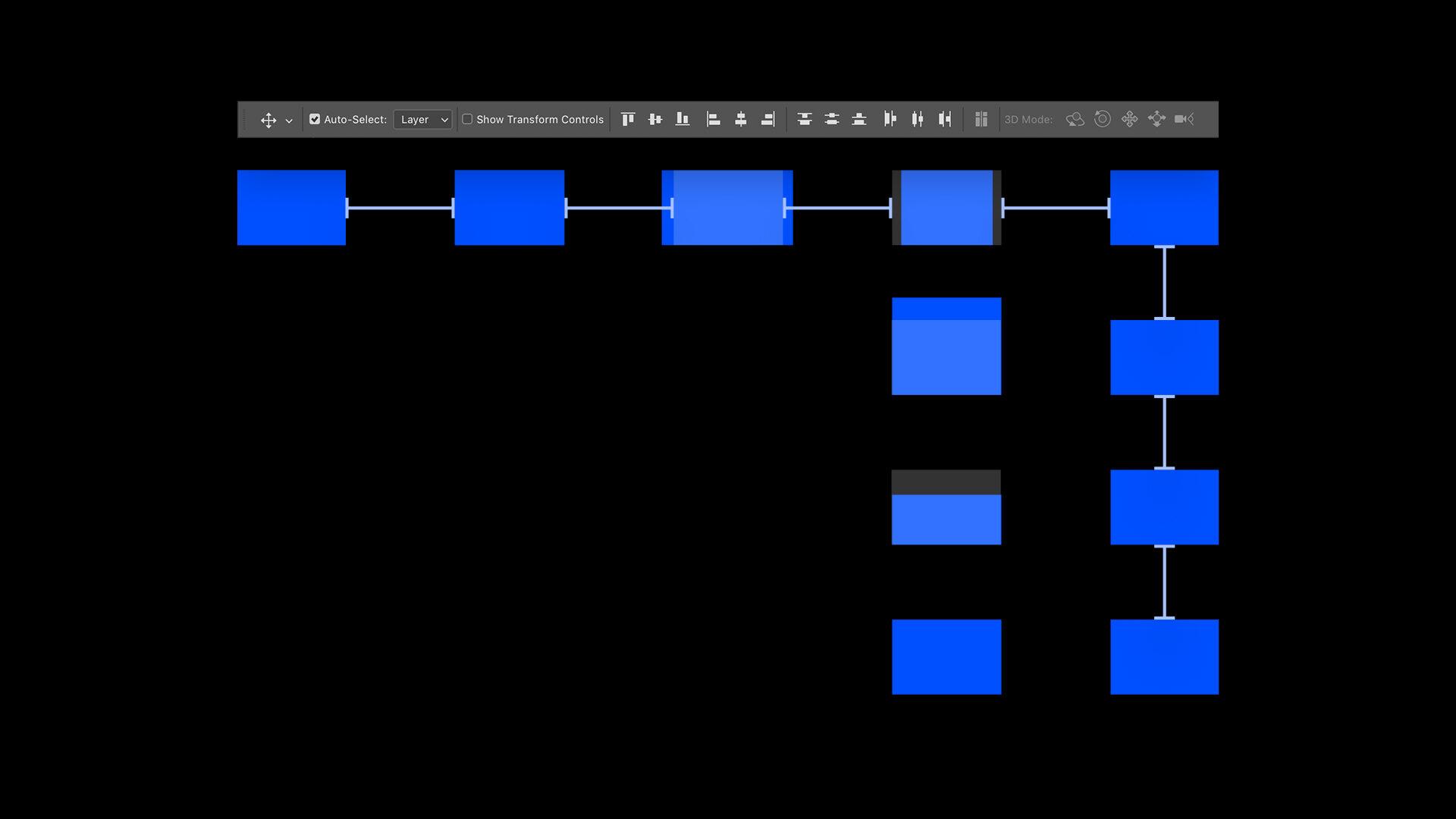 포토샵 기초 강좌 - 오브젝트 정렬하는 방법